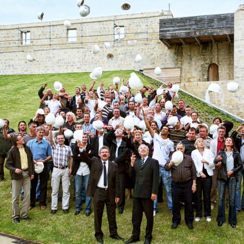 photo de groupe entreprise originale Caen